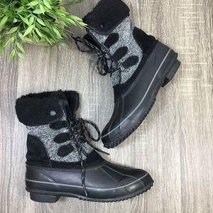 Khombu | Maya Short Winter Boots Black/Gray